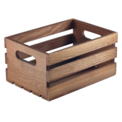 Wooden Crate Table Caddies