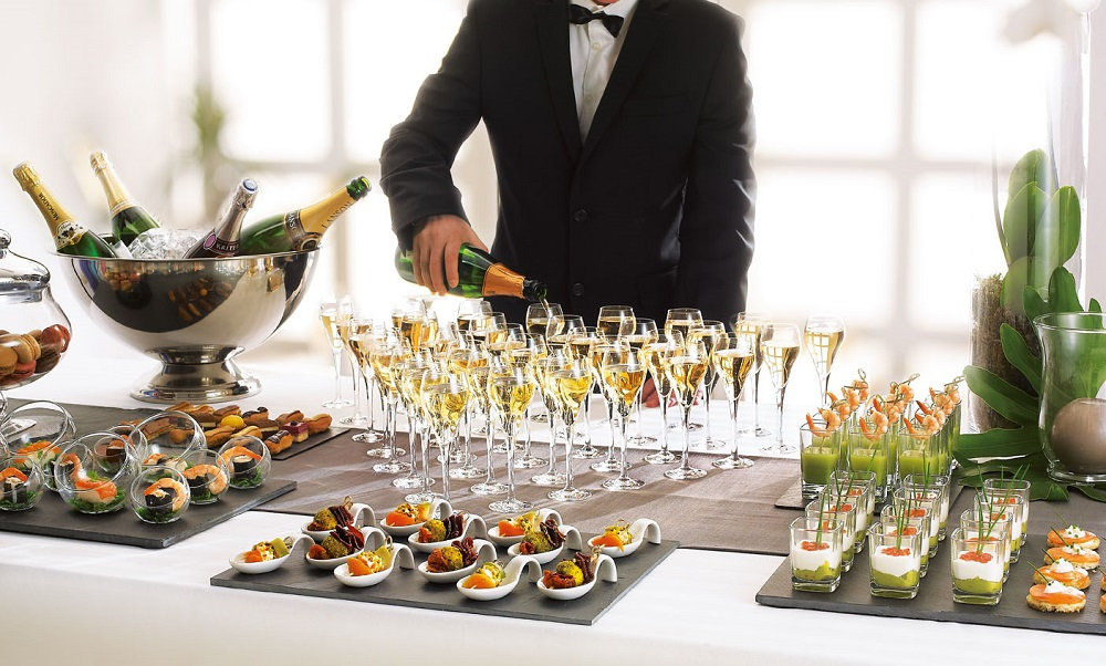 Champagne Reception With Canapes