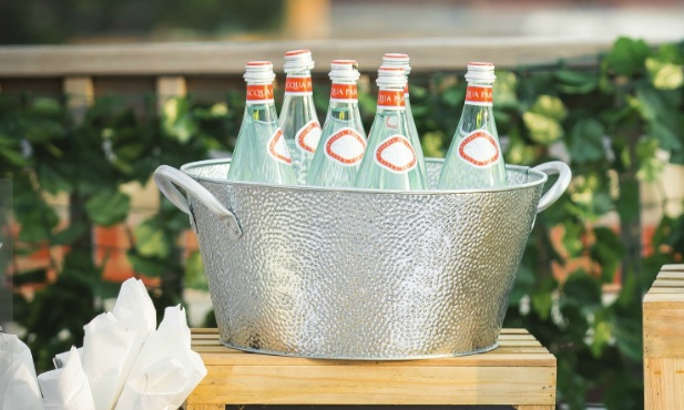 Galvanized Metal Single Wall Beverage Tubs