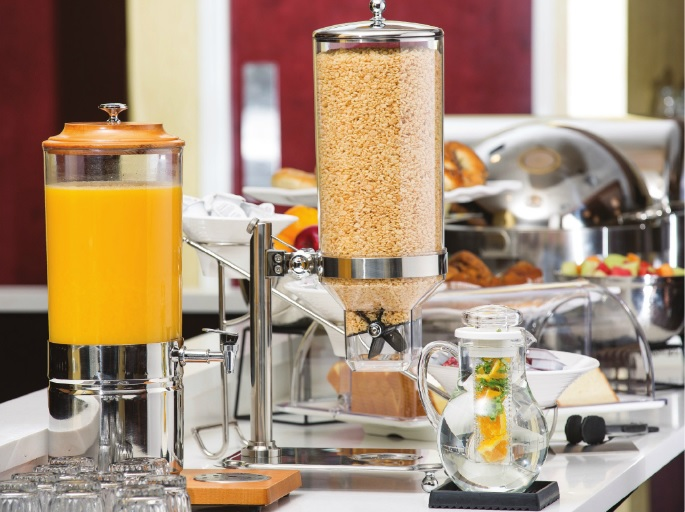 Stainless Steel & Polycarbonate Cereal & Drinks Dispensers