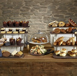 White Crate Risers, Wood Melamine Paddles & White Cake Stand Display