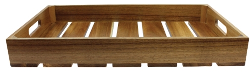 1:1 Gastro Serving & Display Crate, Acacia Wood, 20.86 x 12.79 x 2.7""