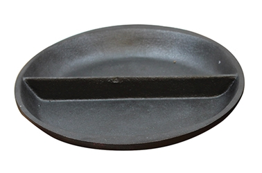 "10"" Split Oval Cast Iron Platter, 10.375 x 7.5 x 1.0"""