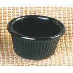 105ml / 3 1/2 oz, 85mm / 3 3/8? Fluted Ramekin, Black