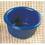 105ml / 3 1/2 oz, 85mm / 3 3/8? Fluted Ramekin, Cobalt Blue