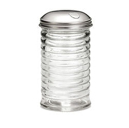 12 oz Beehive Pourer, Side Flap, Stainless Steel Top