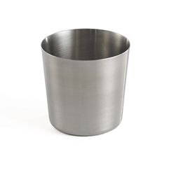 "14 oz Round Appetizer Cup, Stainless Steel Brushed, 3.375"" dia x 3.375"" H"