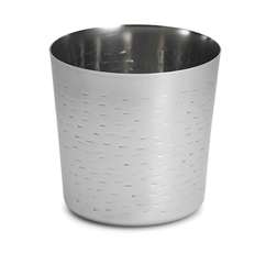 "14 oz Round Appetizer Cup, Stainless Steel Remington Pattern, 3.375"" dia x 3.375"" H"