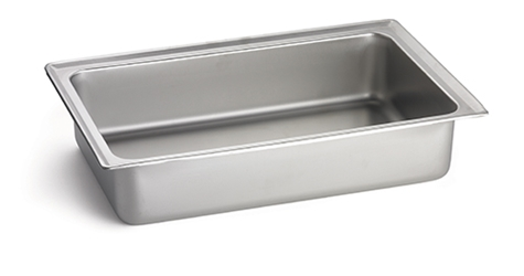 "15.25x15.25x2.5"" Steam Pan, S/S"