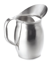 2.12 Qt Pitcher with Ice Guard, Stainless Steel