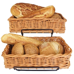2 X Heavy Duty Display Baskets 40 X 25 X 10Cm & Stand