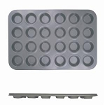 24 Cup Muffin Pan - Non Stick - Small Cup (0.4mm), 44ml / 1.5 oz Each Cup