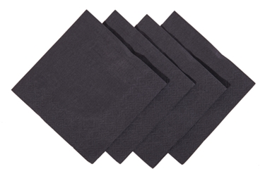 24 x 24cm Black Cocktail Napkin (2000 Pack)