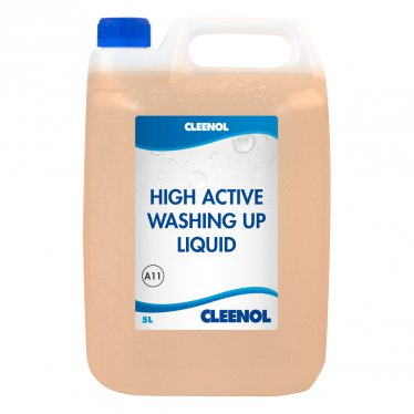 HIGH ACTIVE WASHING UP LIQUID 30% 5L High, Active, Washing, Up, Liquid, 30%, Cleenol