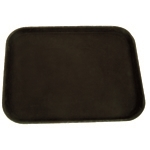 356mm x 457mm / 14? X 18? Rectangular Tray, Black