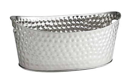 4 Gal Bali Collection(TM) Oval Beverage Tub, Stainless Steel, 20.5 x 13.5 x 8.75""