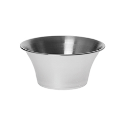 4 oz Sauce Cup, Flared Design, Stainless Steel
