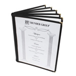 6 Page Book Fold Menu Cover, 216mm x 279mm / 8 1/2? x 11?, Black