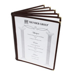 6 Page Book Fold Menu Cover, 216mm x 279mm / 8 1/2? x 11?, Green