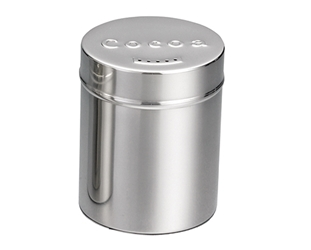 6 oz Cocoa Shaker, Stainless Steel