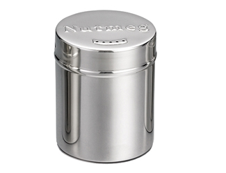 6 oz Nutmeg Shaker, Stainless Steel