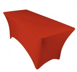 6ft Red Spandex Lycra Rectangular Trestle Table Cloth Cover (Each)