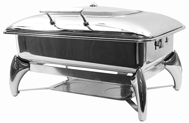 7 Qt Quick View Fuel Chafer w/ Stand, Full Size w/ Window, 22.75 x 18 x 13""