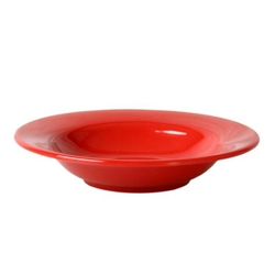 8 oz, 7 3/4? / 200mm Wide Rim Salad Bowl, Pure Red