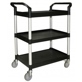 3-Tier Bus Cart Black