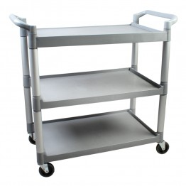 3-Tier Bus Cart, Grey Trolly, Promotion, 3 Tier, Bus, Cart