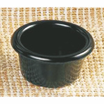 89ml / 3 oz, 79mm / 3 1/8? Contemporary Ramekin, Black