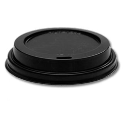 8oz (80mm) PS lids, black (x500)
