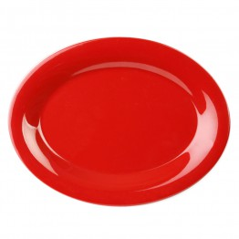 9 1/2? X 7 1/4? / 240mm X 185mm Platter, Pure Red