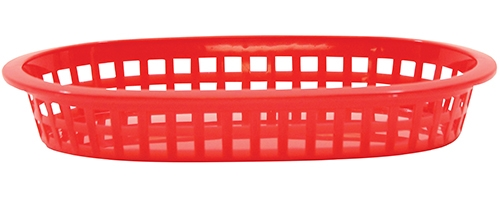 A La Carte Platter Baskets Polypropylene Red Oval 22x15x4cm