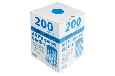 Antibacterial All Purpose Cloths - Blue (x200)