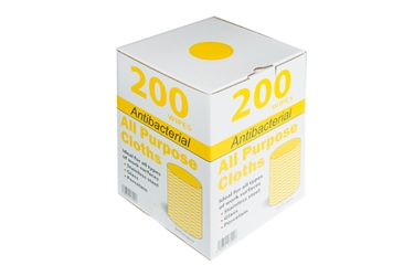 Antibacterial All Purpose Cloths - Yellow (x200)