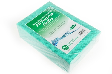 Antibacterial Cloth - Green Heavy Duty 75GSM (x25)