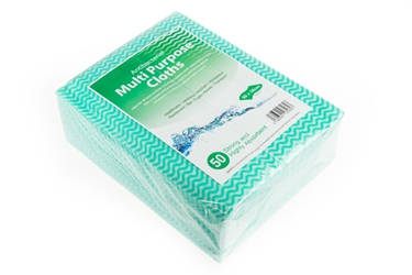 Antibacterial Cloth - Green Wave Medium Duty 40GSM (x50)