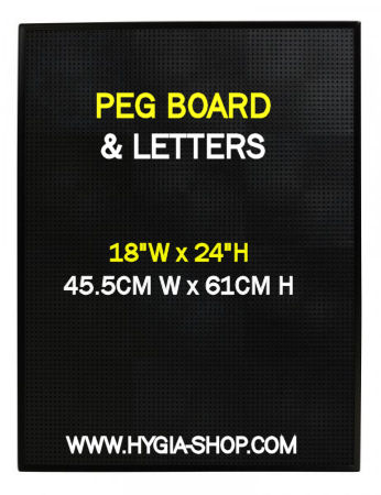 BLACK PEG BOARD 18inch  Wide x 24inch High (Each) BLACK, PEG, BOARD, 18inch, , Wide, 24inch, High, Beaumont