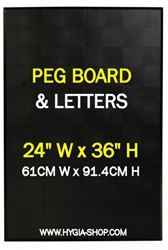 BLACK PEG BOARD 24inch Wide x36inch High (Each) BLACK, PEG, BOARD, 24inch, Wide36inch, High, Beaumont