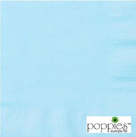 Baby Blue 2 Ply 40cm Napkins (2000 Pack)