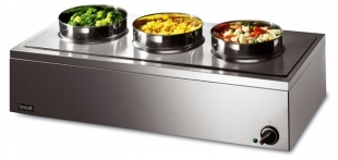 Bain Marie 3 round pots (wet or dry)