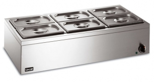 Bain Marie 6 x 1/4 Gastronorms (dry)
