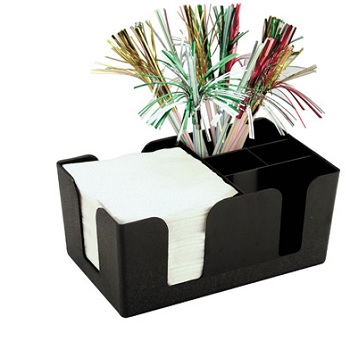 Bar Caddy Black 24 X 14  X 10 Cm