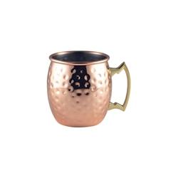 Barrel Copper Mug 40cl/14oz Hammered (Each) Barrel, Copper, Mug, 40cl/14oz, Hammered, Nevilles