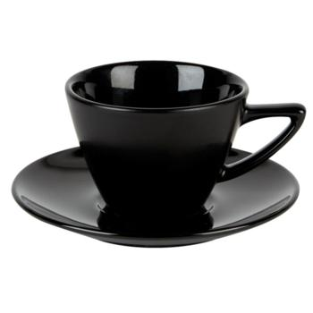 Black Double Well Saucer (Pack of 6)