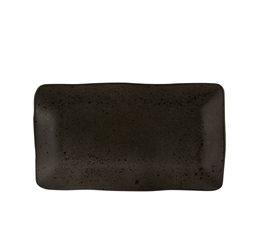 Black Ironstone Rectangular Plate 27.5 x 15.5cm (Pack of 6)