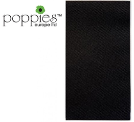 Black Pre-Folded 3 Ply 40cm Napkins (1000 Pack)