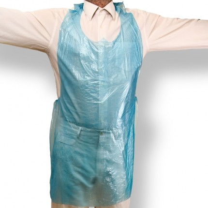 "Blue PE Flat Packed Apron 27""x42"" (686mm x 1067mm)"
