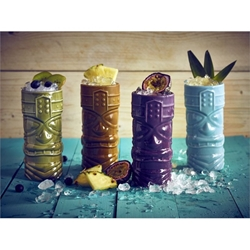 Blue Tiki Mug 40cl/14oz (4 Pack) Blue, Tiki, Mug, 40cl/14oz, Nevilles